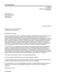 Bewerbungsmuster Für Facility Manager