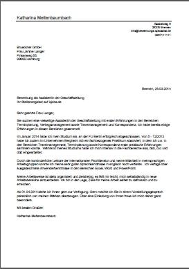 bewerbungsschreiben 2 kauffrau fr brokommunikation - Bewerbung Als Kauffrau Fur Buromanagement